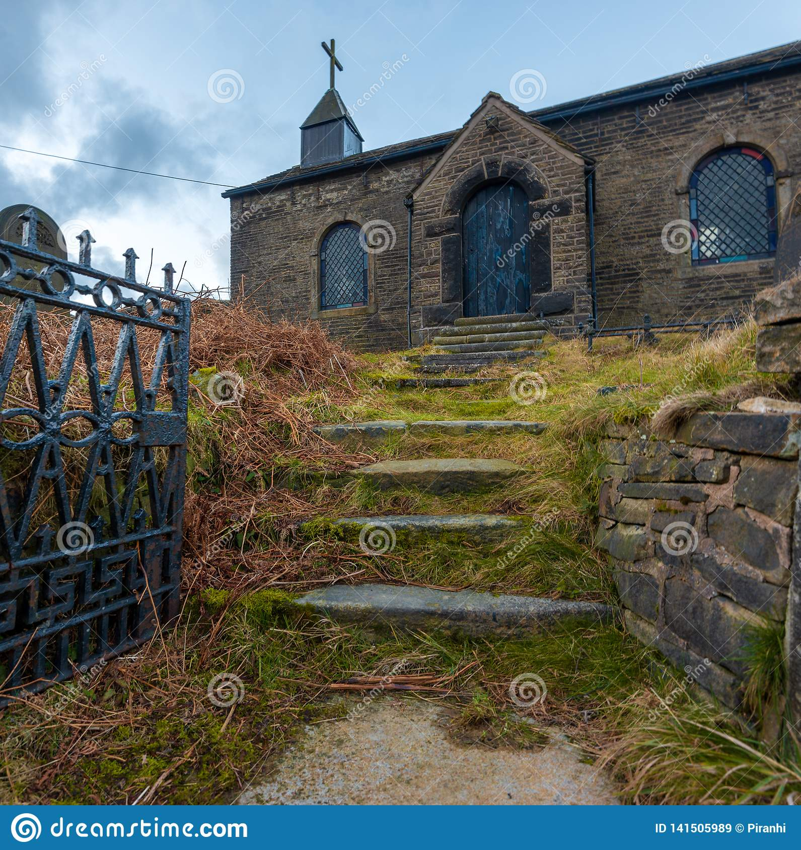 An abandoned church hidden away in the Peak District, UK