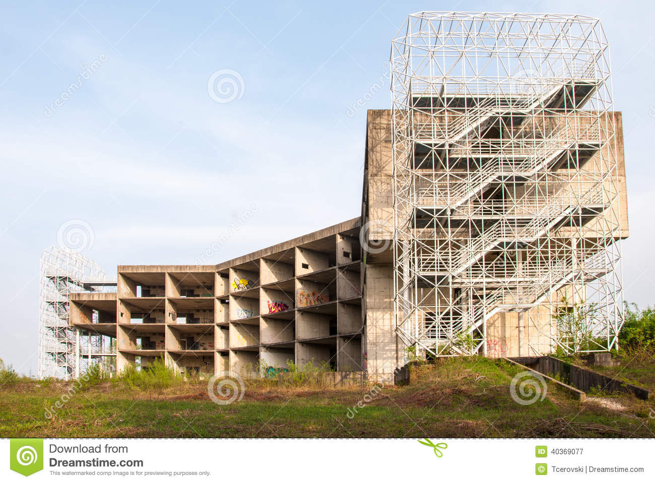 An Abandoned Construction Complex Stock Image Image Of Emergency Outdoor 40369077