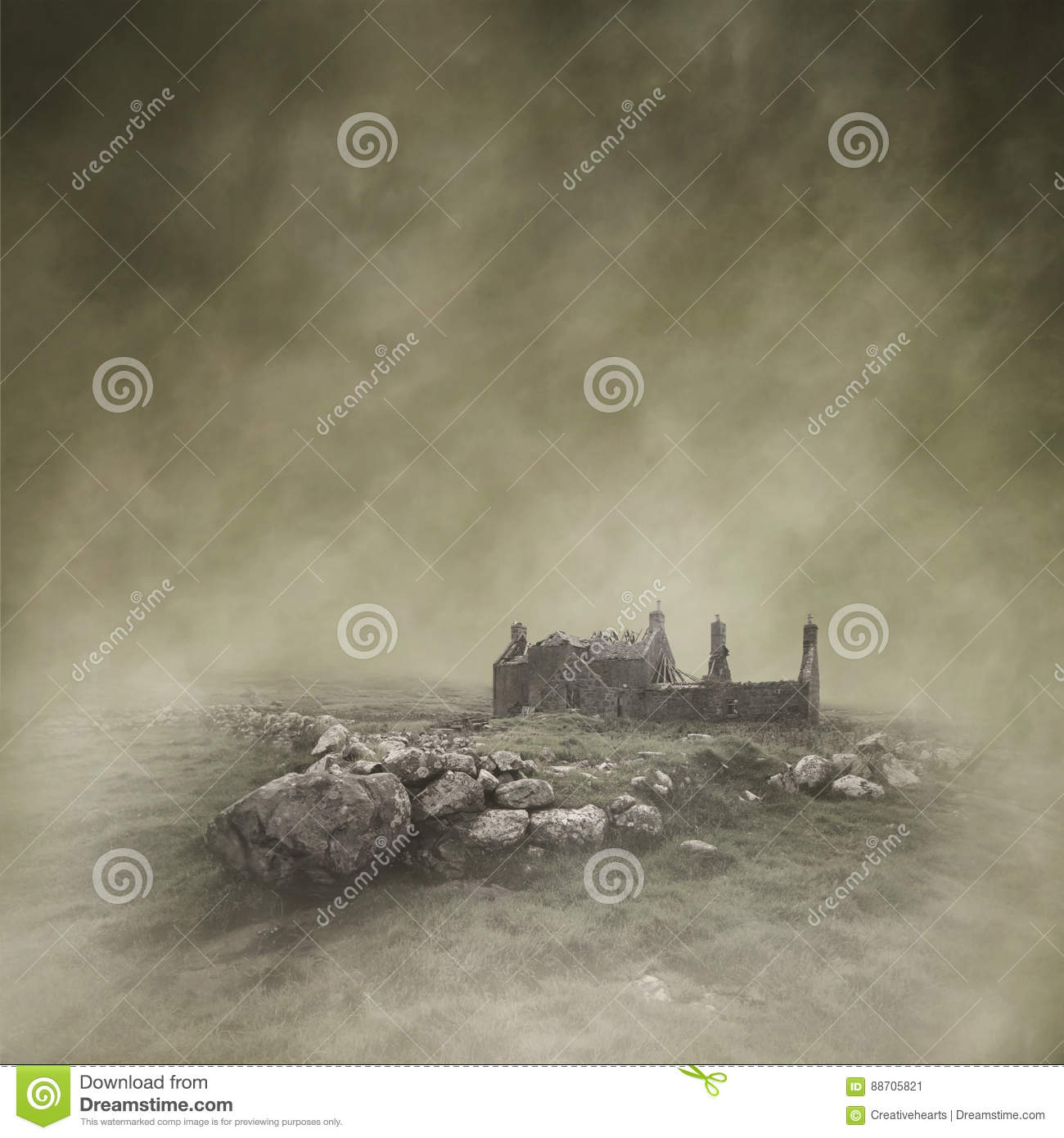 Abandoned Croft stock image  Image of atmospheric, cottage
