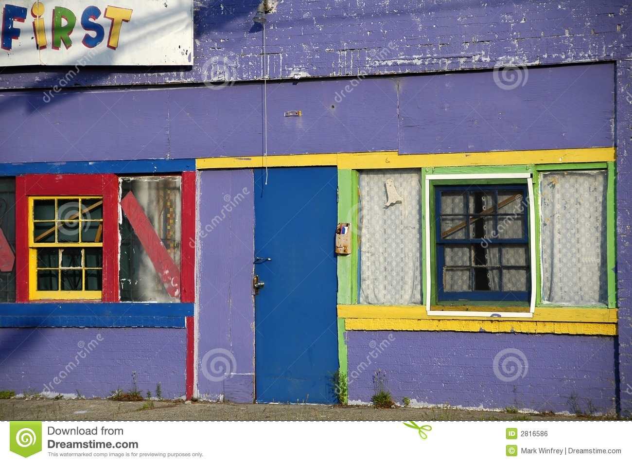 abandoned day care center royalty free stock image