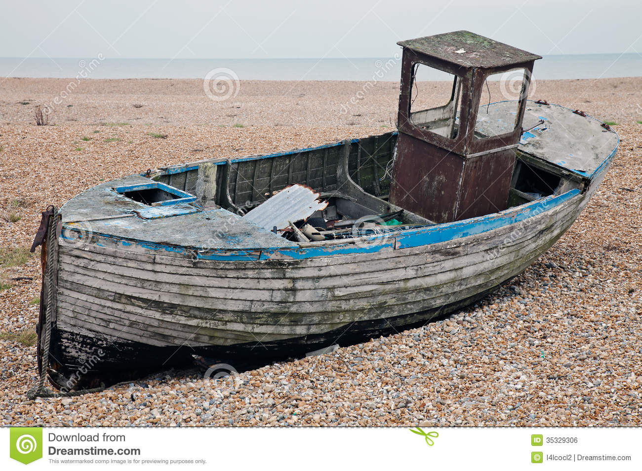 Abandoned derelict fishing boat royalty free stock image for Long beach fishing boat