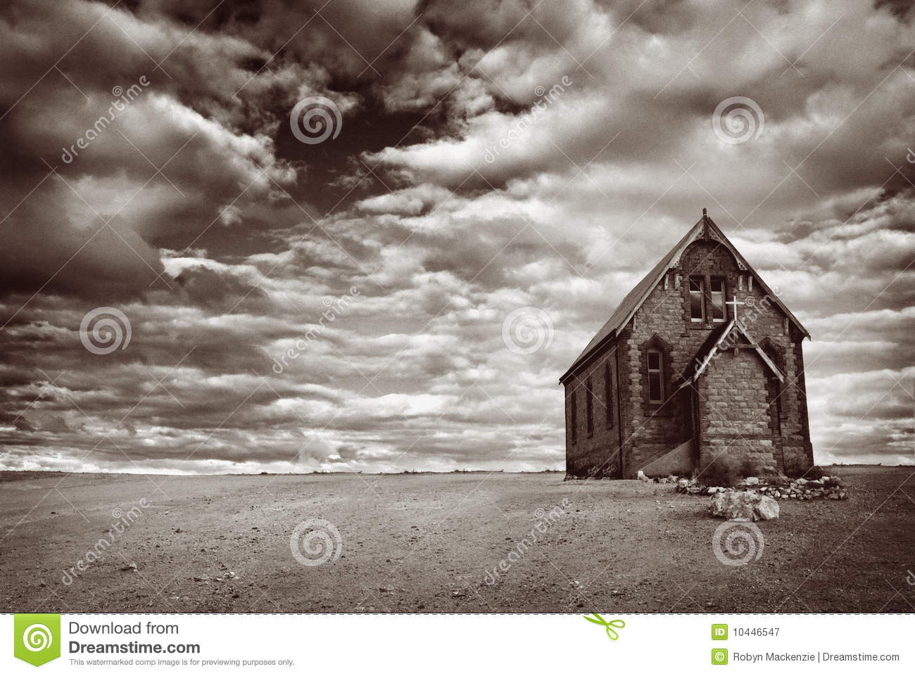 Download Abandoned Desert Church stock image. Image of sepia, decline - 10446547