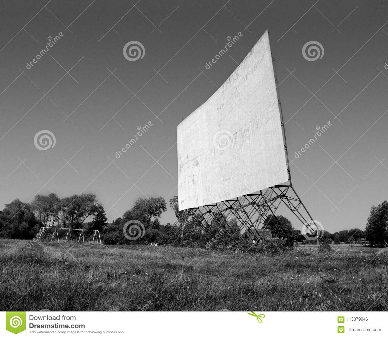 Abandoned Drive In Movie Theater Stock Photo