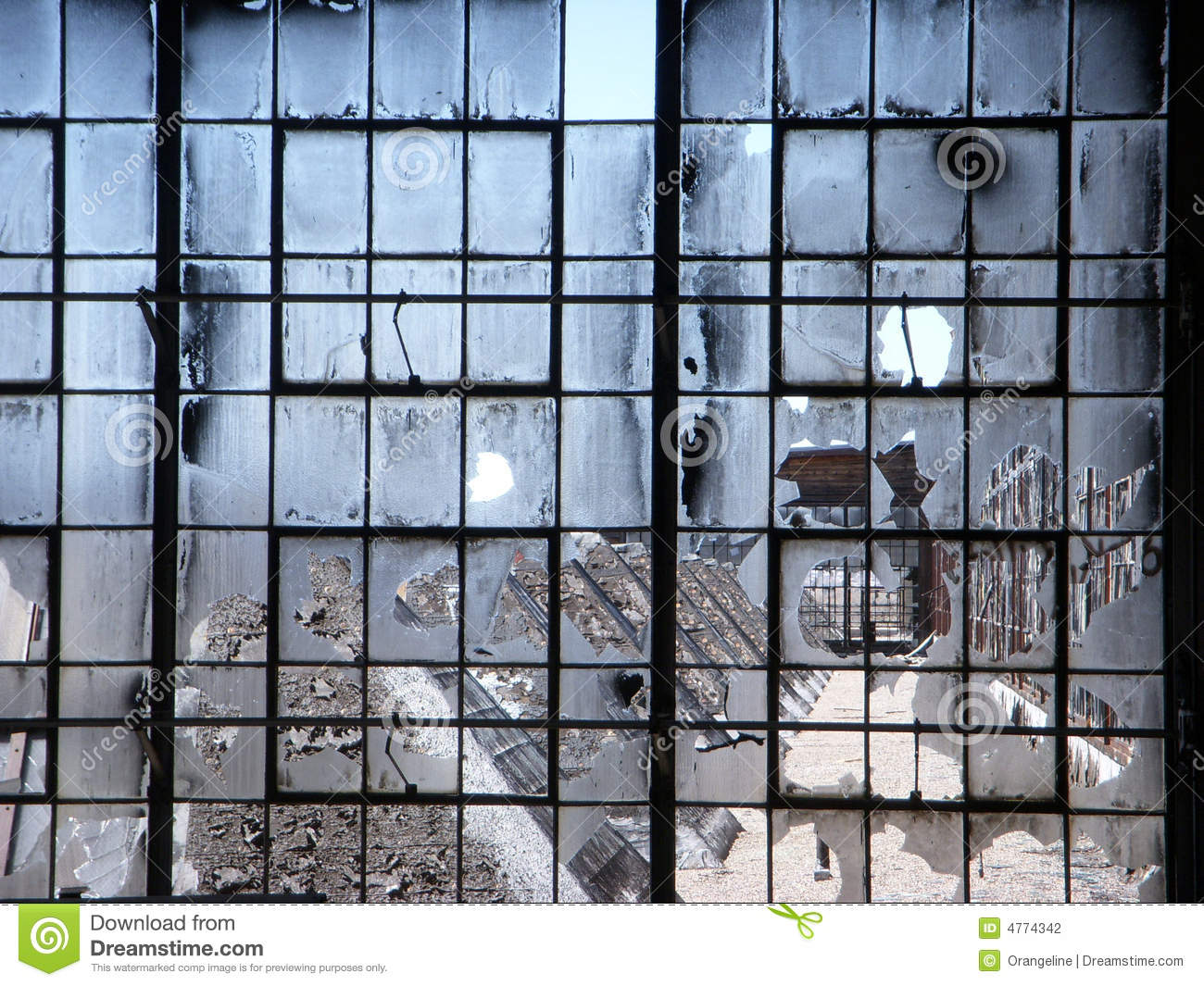 Abandoned factory broken windows stock photo image for Window factory
