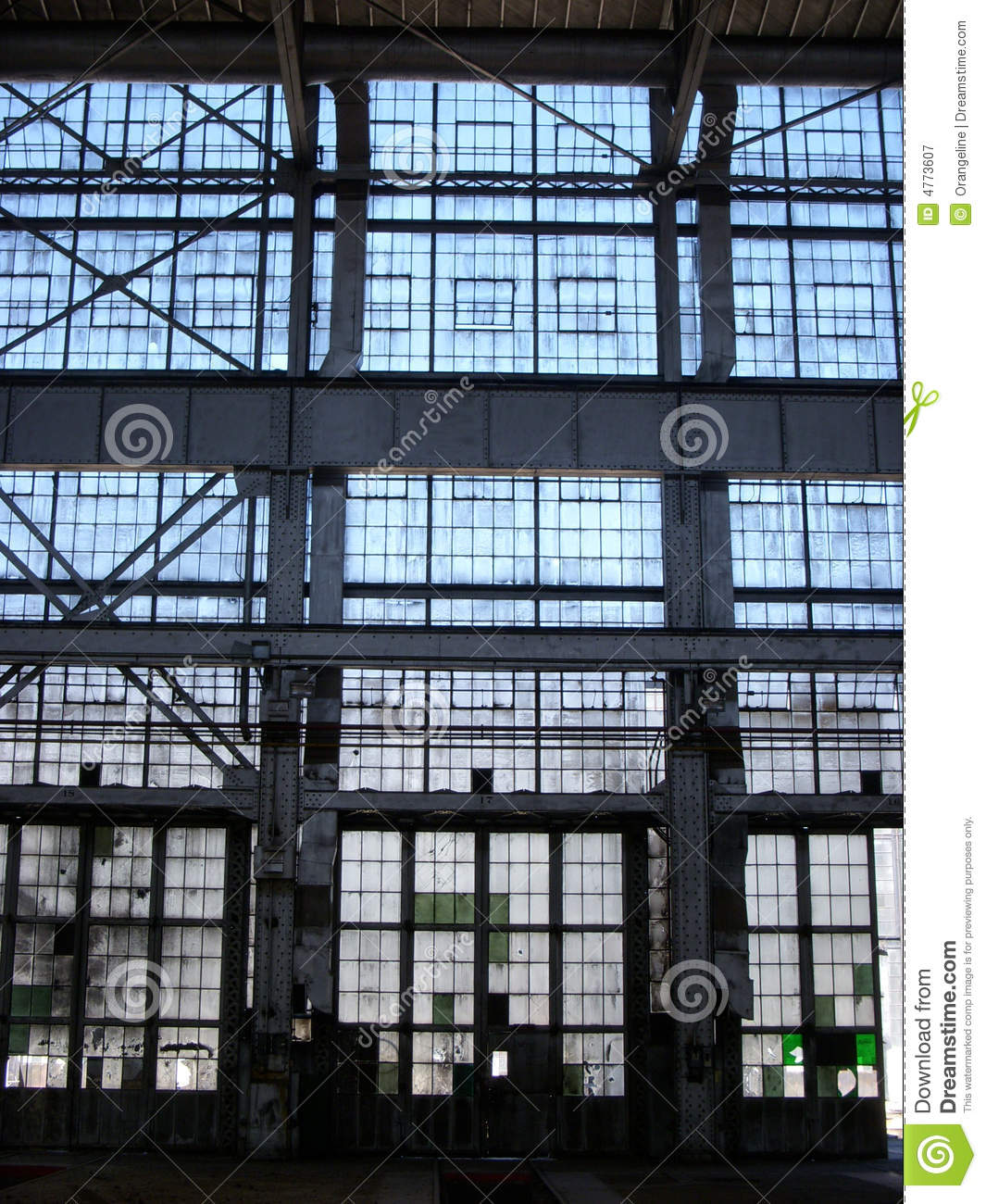 Abandoned factory wall of windows royalty free stock for Window factory