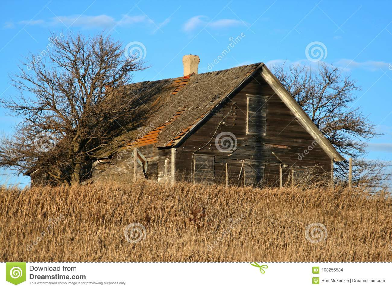 Abandoned Farm Homes That Are Neglected Stock Photo - Image