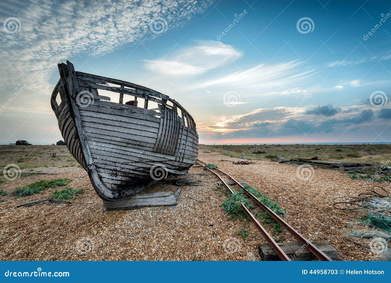 Abandoned Fishing Boat Stock Photo - Image: 44958703