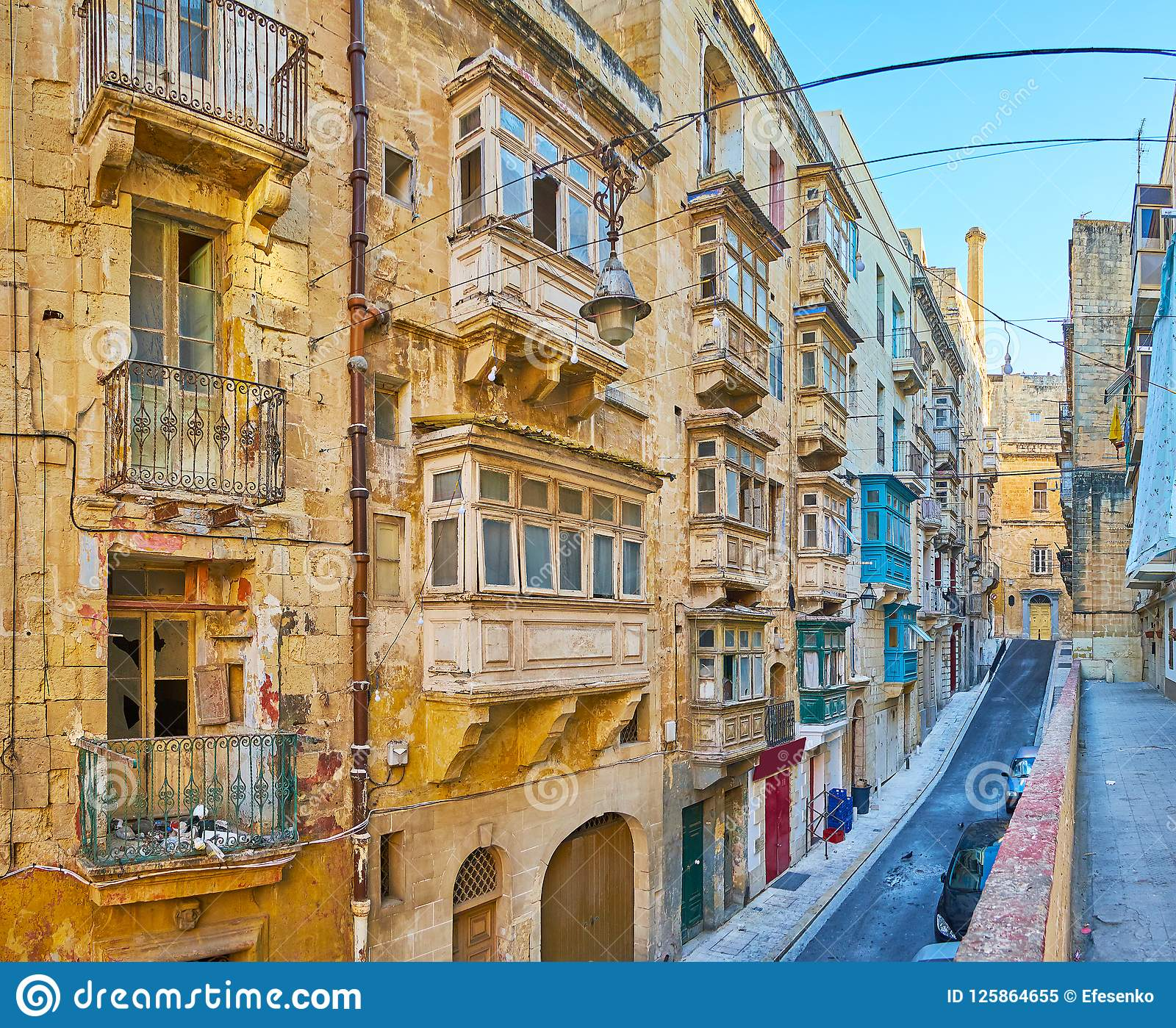 Abandoned Buildings In Old Valletta, Malta Stock Image