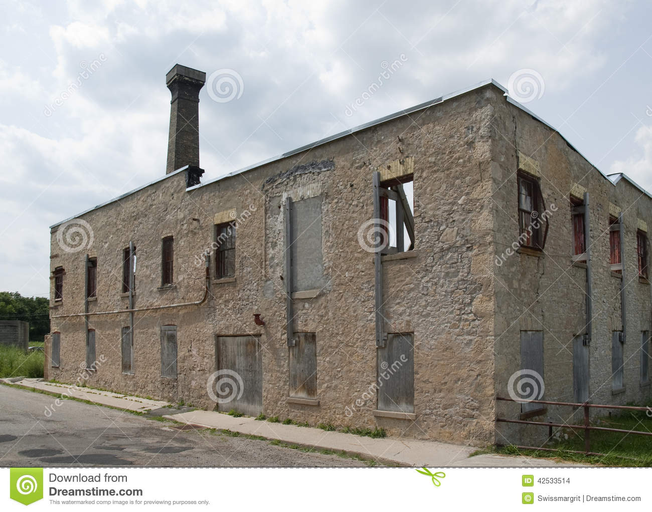 Abandoned Furniture Factory In Elora Canada Stock Photo