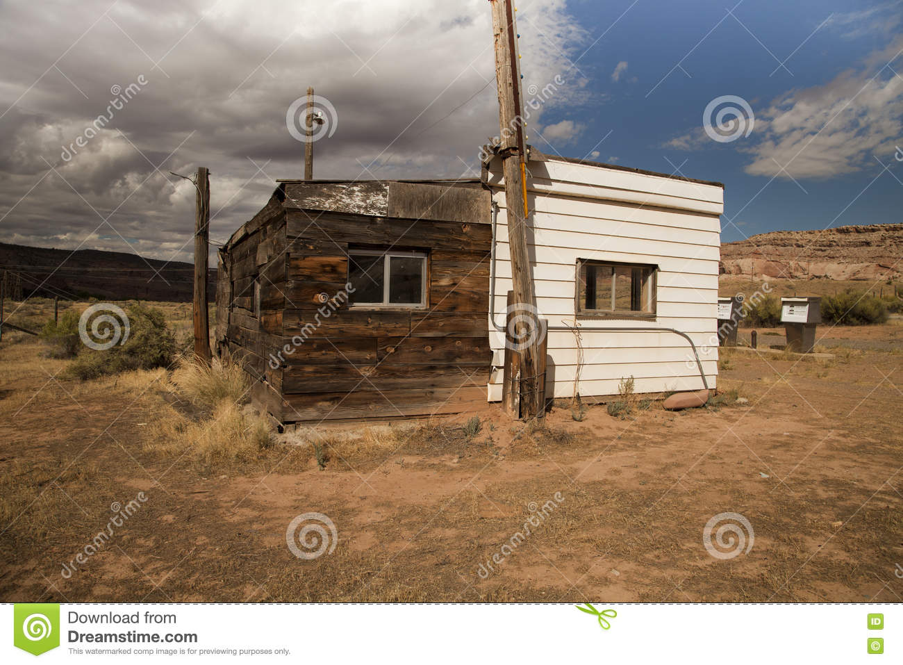 Abandoned Gas Station Stock Photo Image Of Ghost Desert 79613112