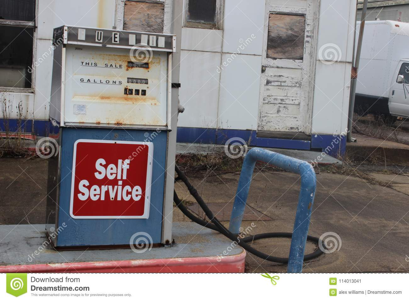 Abandoned Gas Station With Old Rusty Pumps Stock Image Image Of Repair Culture 114013041