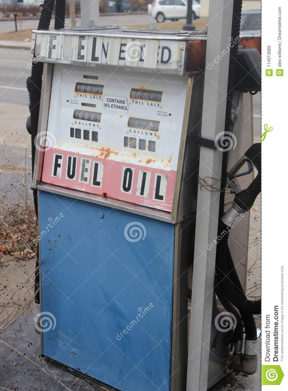 Abandoned Gas Station With Old Rusty Pumps Stock Photo Image Of Rural Fuel 114013060