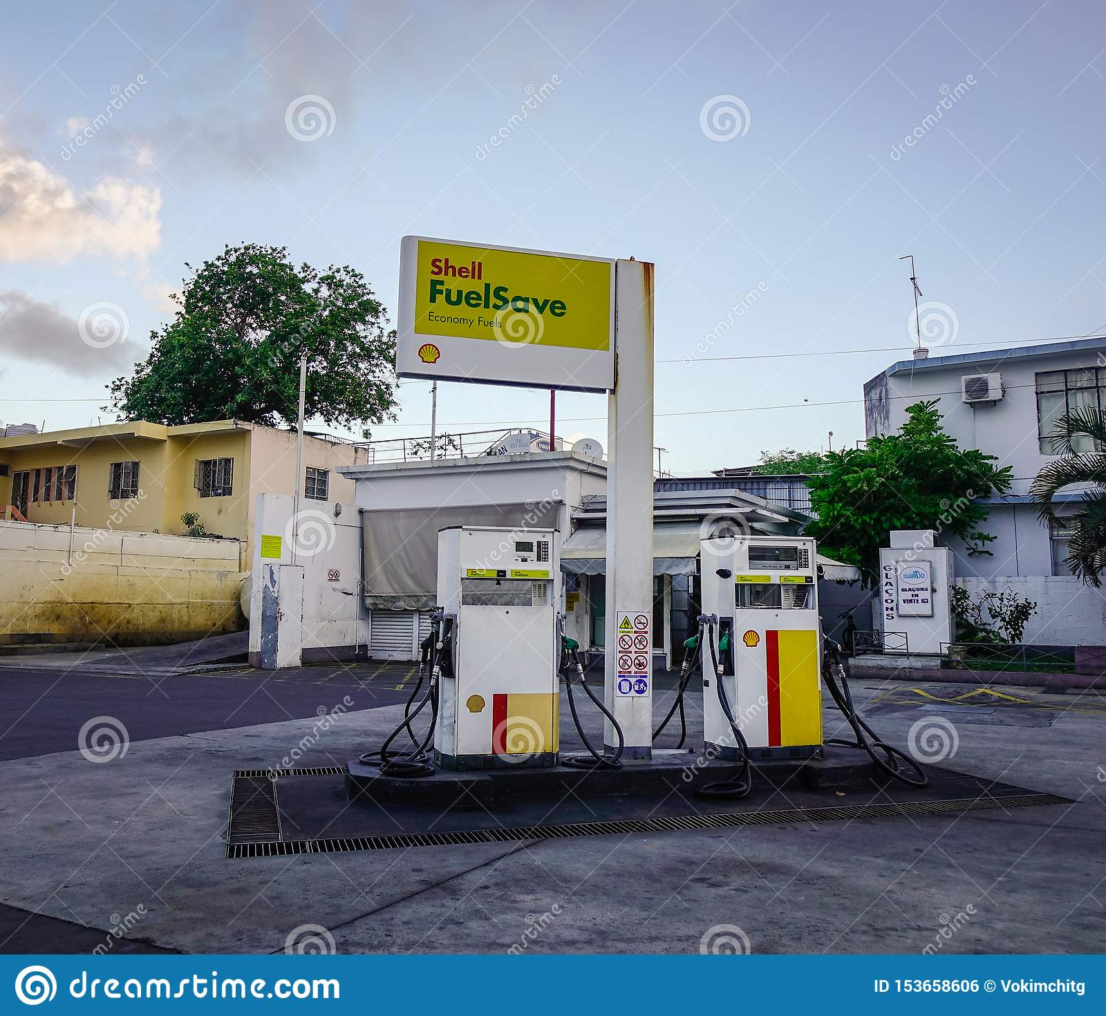 Abandoned Gasoline Station In Mauritius Editorial Photo Image Of Restaurant Highway 153658606