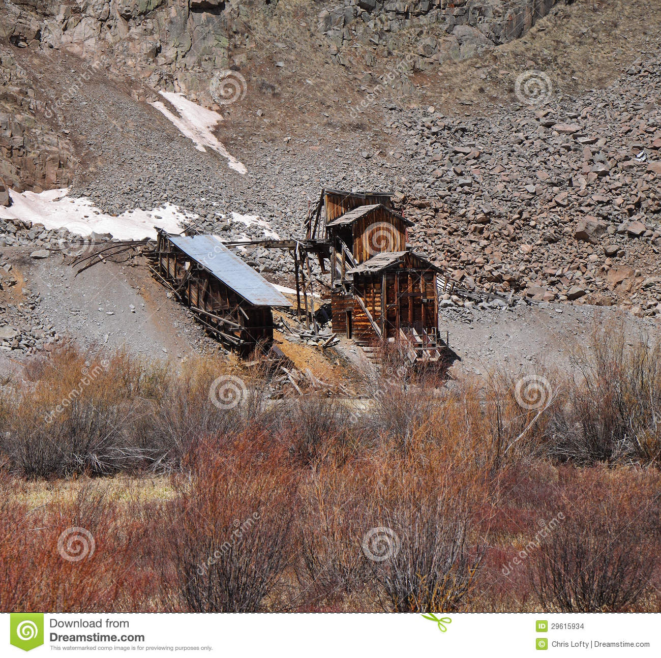 Abandoned Gold Mine In Colorado, USA Stock Images