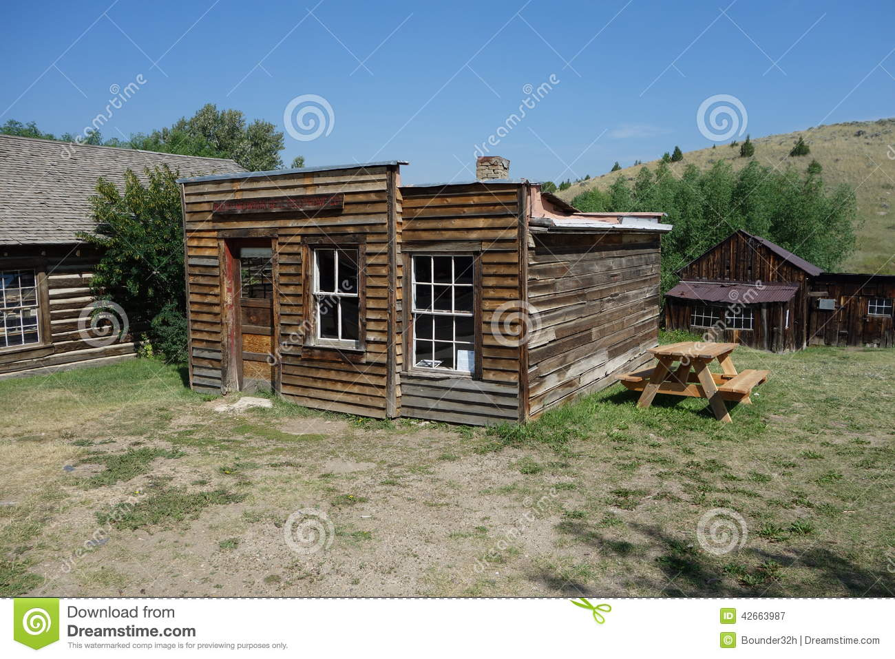 An abandoned historical wooden house in idaho stock photo for Building a house in idaho