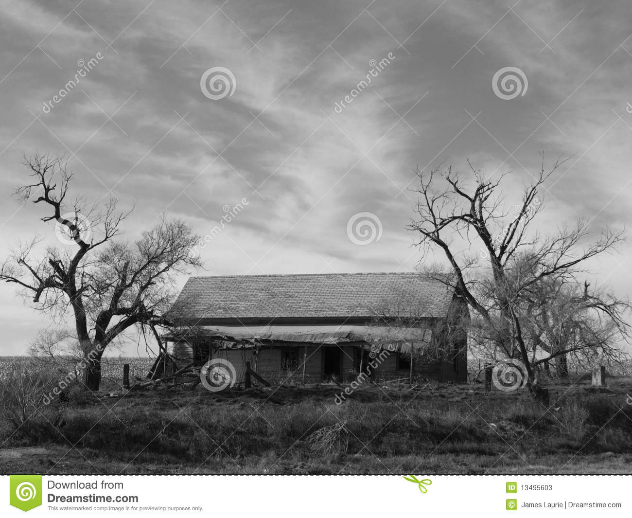 Download Abandoned Homestead stock image. Image of panhandle, windmill - 13495603