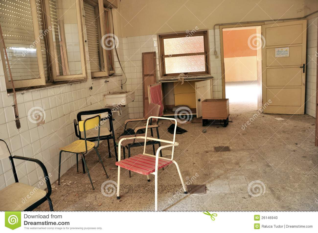 Abandoned Hospital Room In Italy Stock Photo Image 26146940