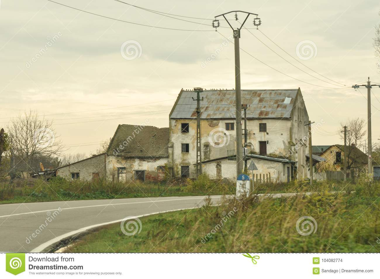 Abandoned house stock photo  Image of danger, decay - 104082774
