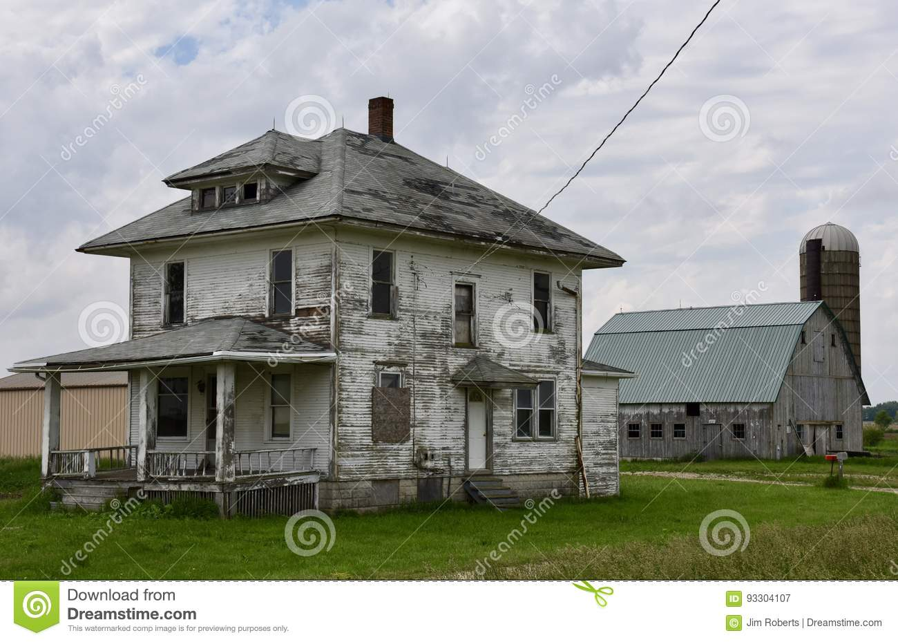Illinois will county peotone - Abandoned House And Barn