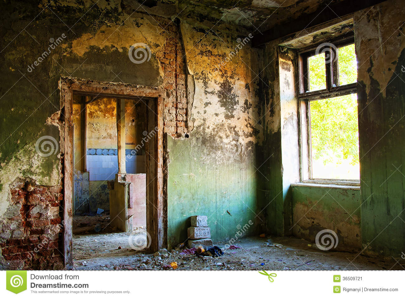 Abandoned House Detail Stock Image Image 36509721