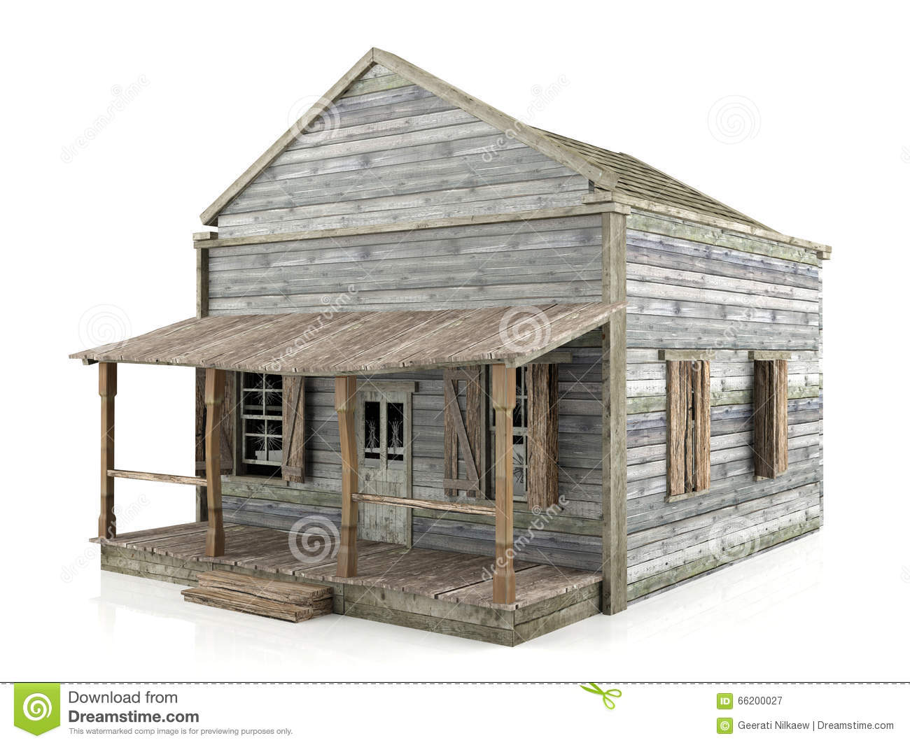 Abandoned house isolated stock photo for Building houses with side views