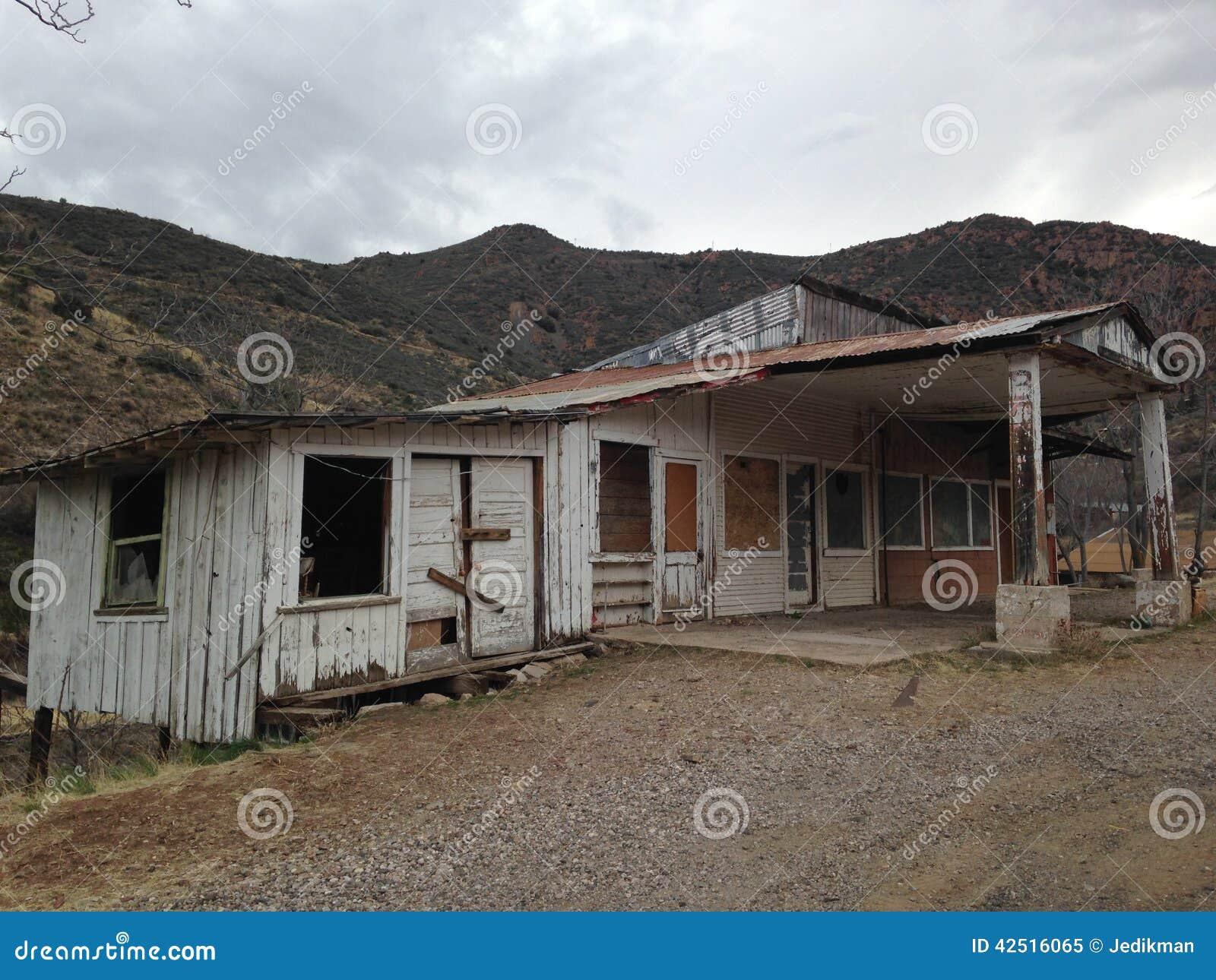 Abandoned House In Jerome, Arizona Stock Image - Image ...