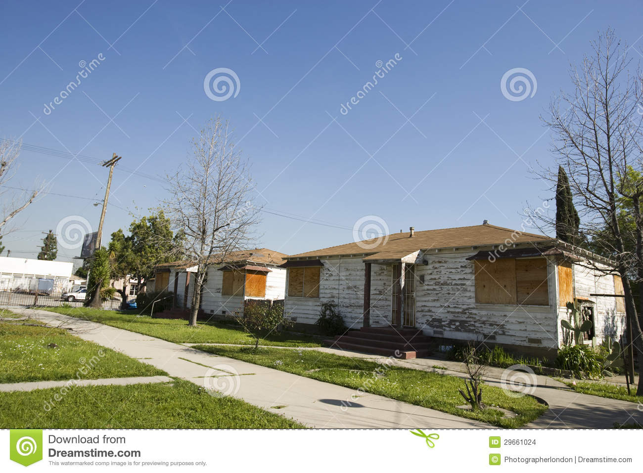 Boarded Up Structure In Winter Stock Photography
