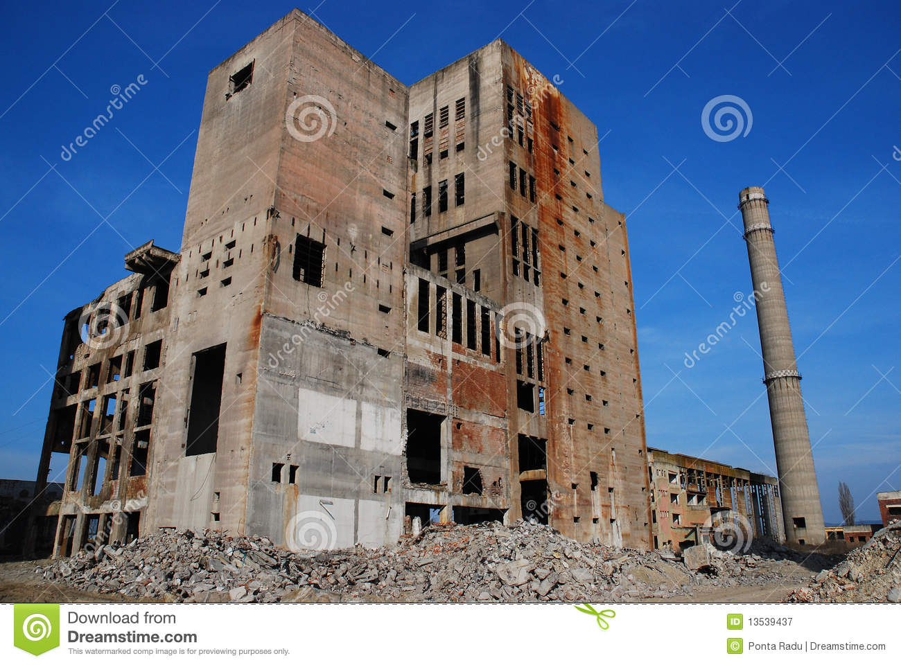Abandoned Industrial Buildings Royalty Free Stock