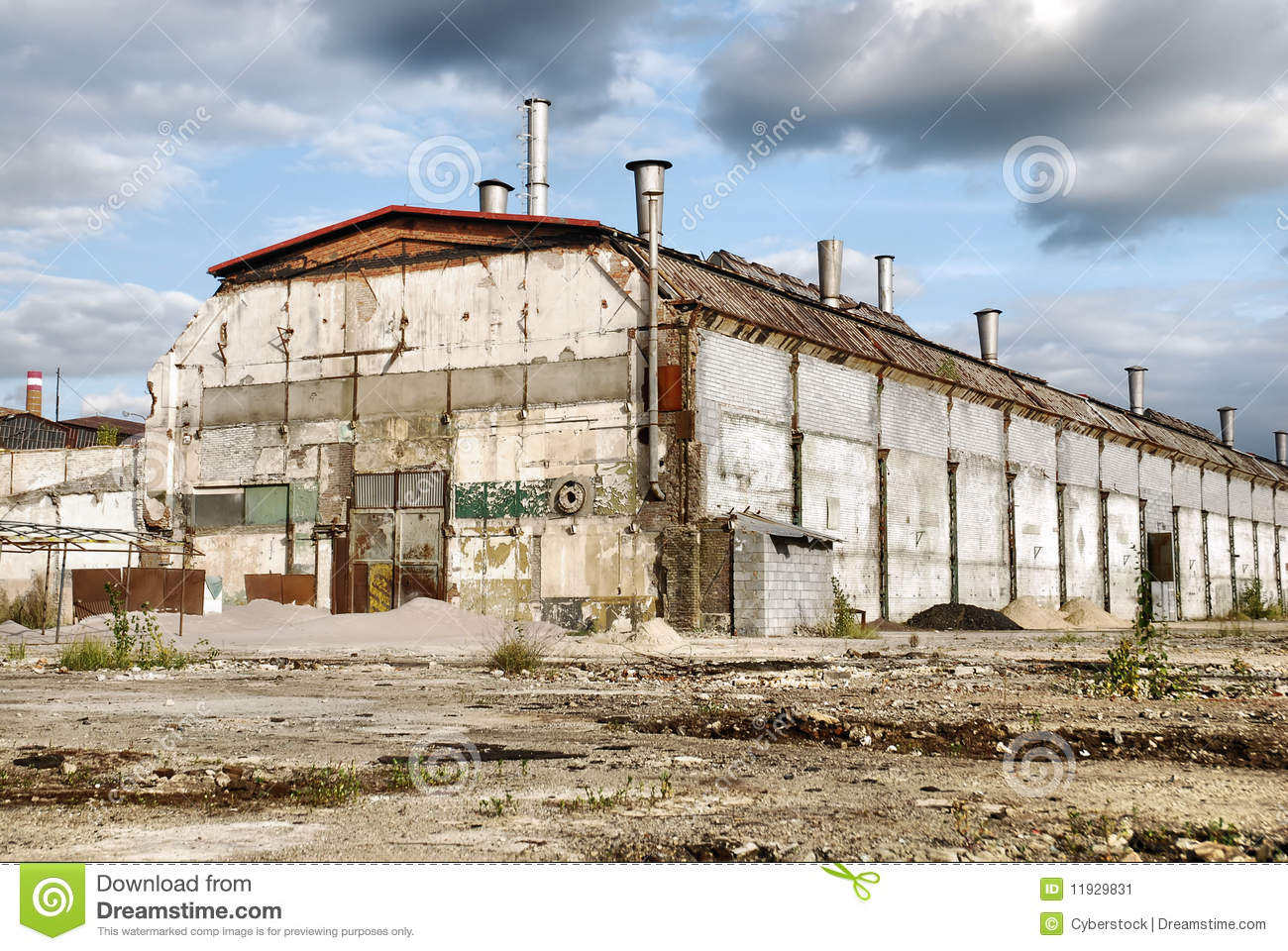 Abandoned Industrial Warehouse Stock Image Image 11929831