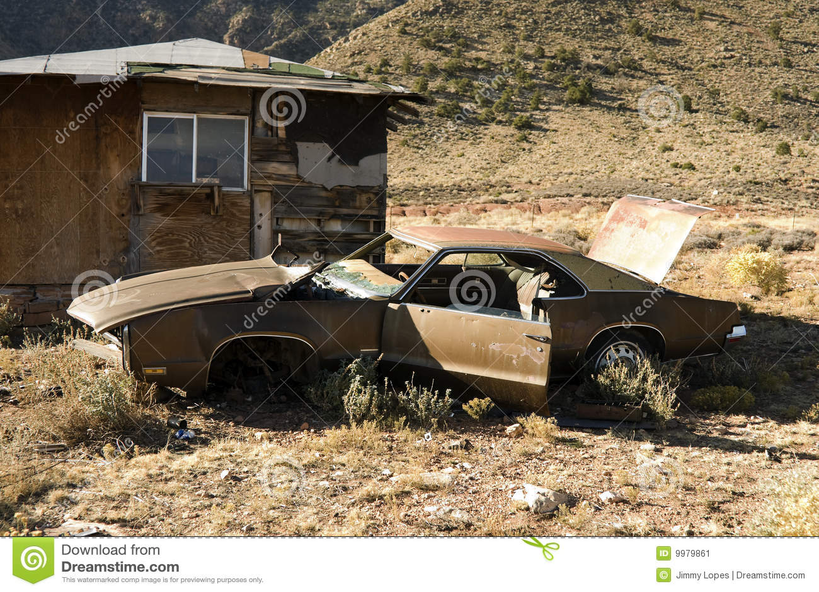 Abandoned Junk Car In Desert Stock Image - Image of abandoned ...