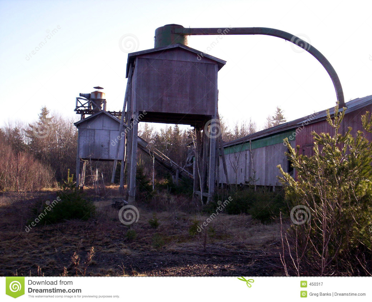Download Abandoned Lumber Mill stock image. Image of retro, mill - 450317