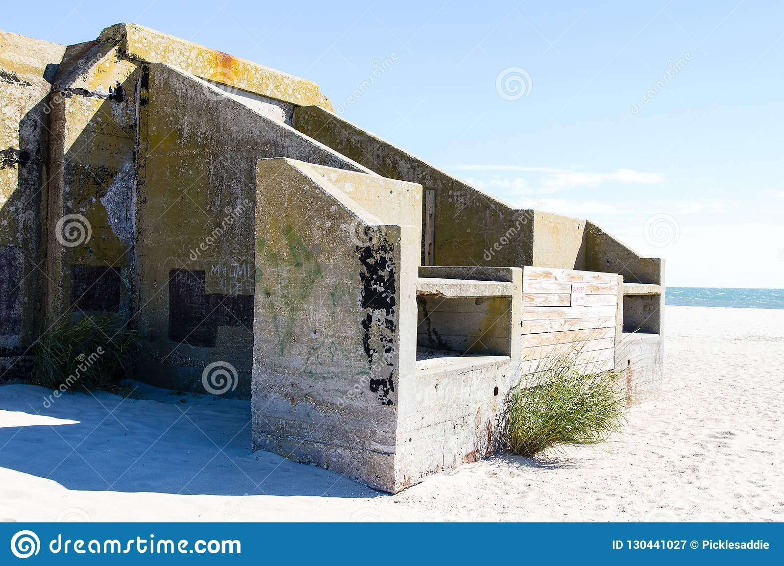 Abandoned military bunker on Cape May Point
