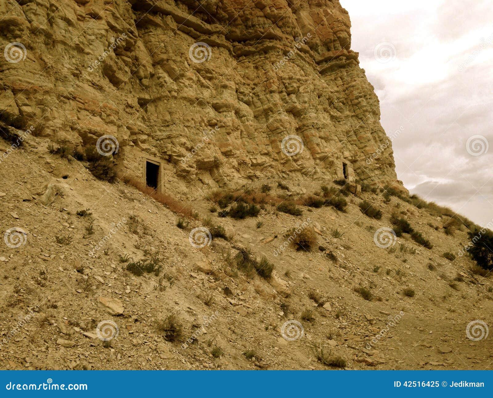 Abandoned Mines Near Salina, Utah Stock Image - Image of located