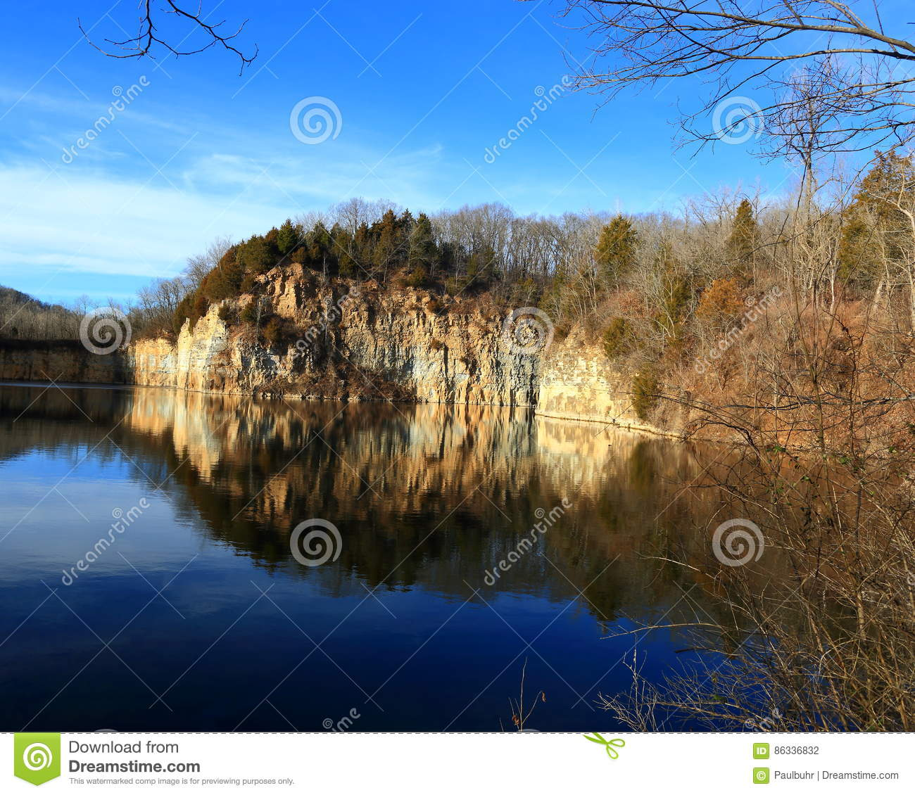 Abandoned Missouri Quarry Stock Photo. Image Of Missouri