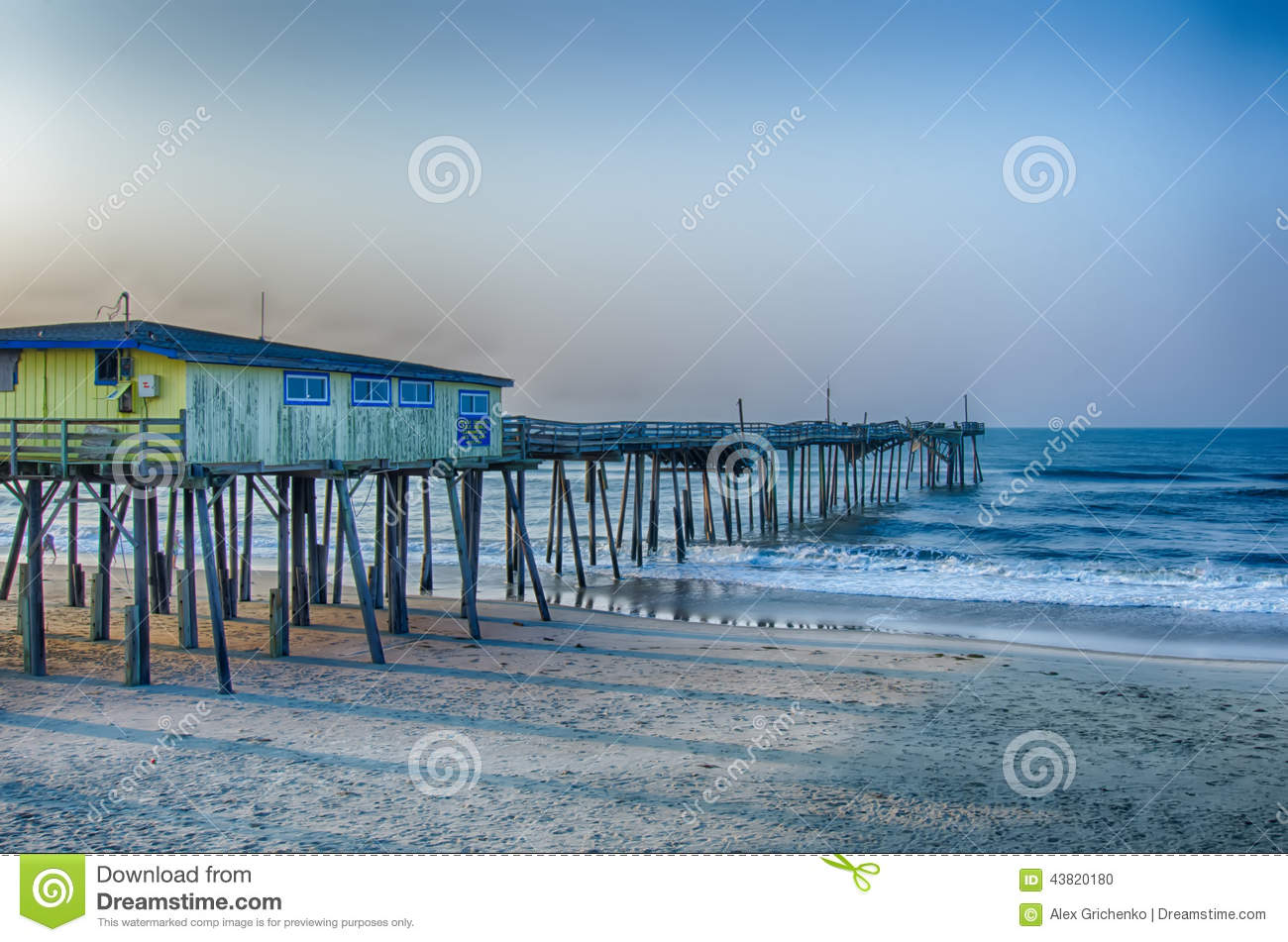 Abandoned north carolina fishing pier outerbanks obx cape for Nc hunting and fishing license prices