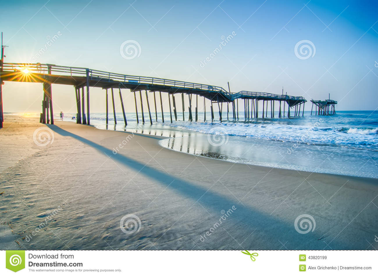 Abandoned north carolina fishing pier outerbanks obx cape for Fishing outer banks nc