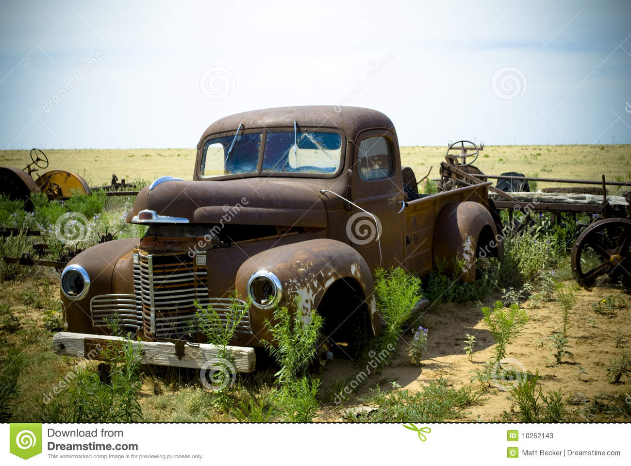 Abandoned Old Fashioned Truck Stock Image - Image of discarded ...