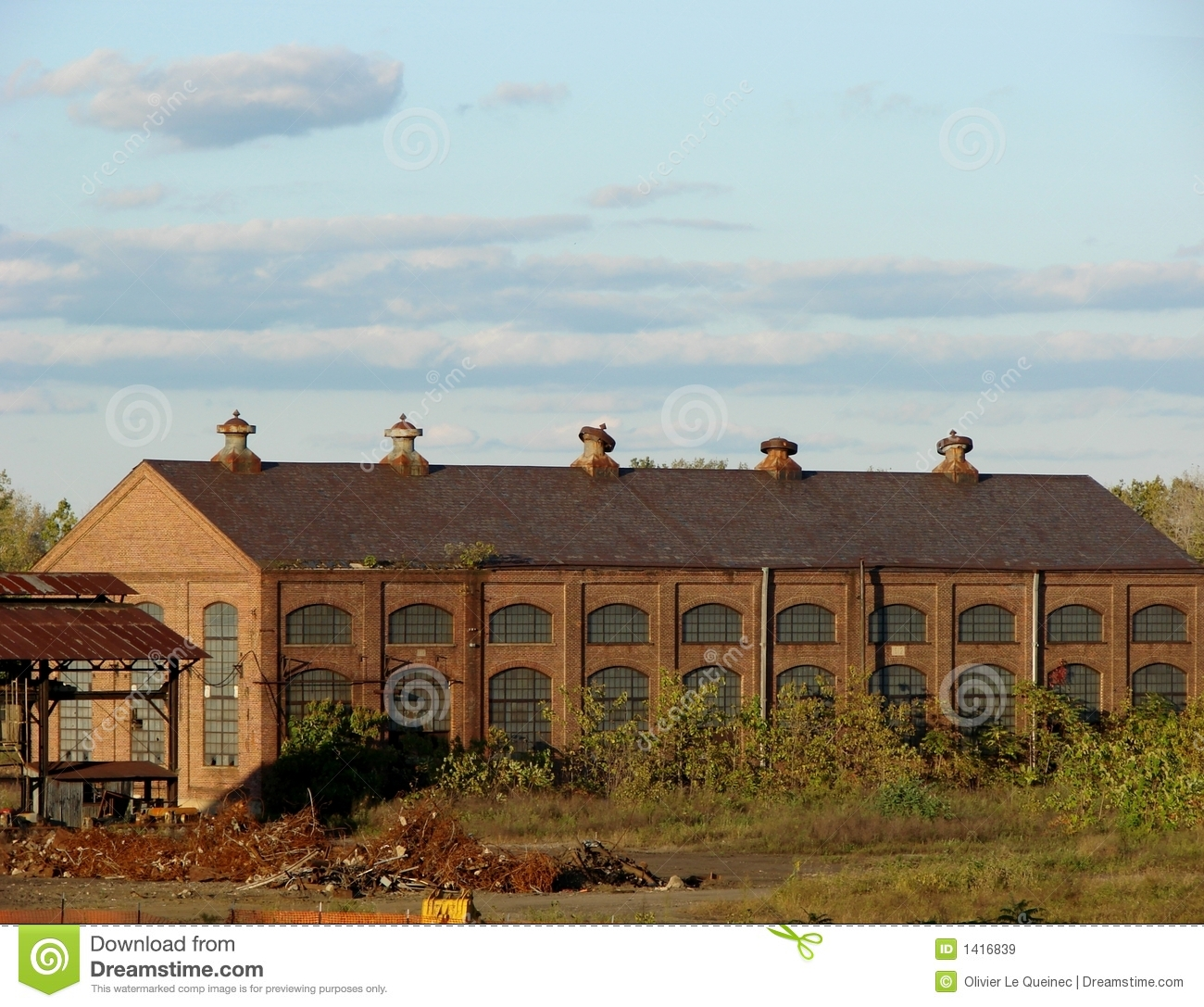 Abandoned Old Industrial Factory Brick Building Royalty Free Stock ... Old Factory Building