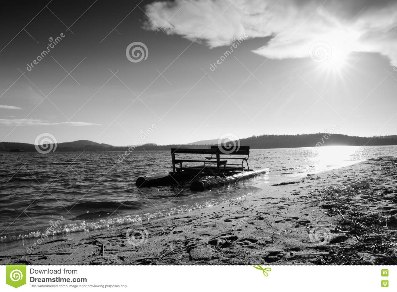 Abandoned Old Rusty Paddle Boat Stuck On Sand Of Beach  Wavy