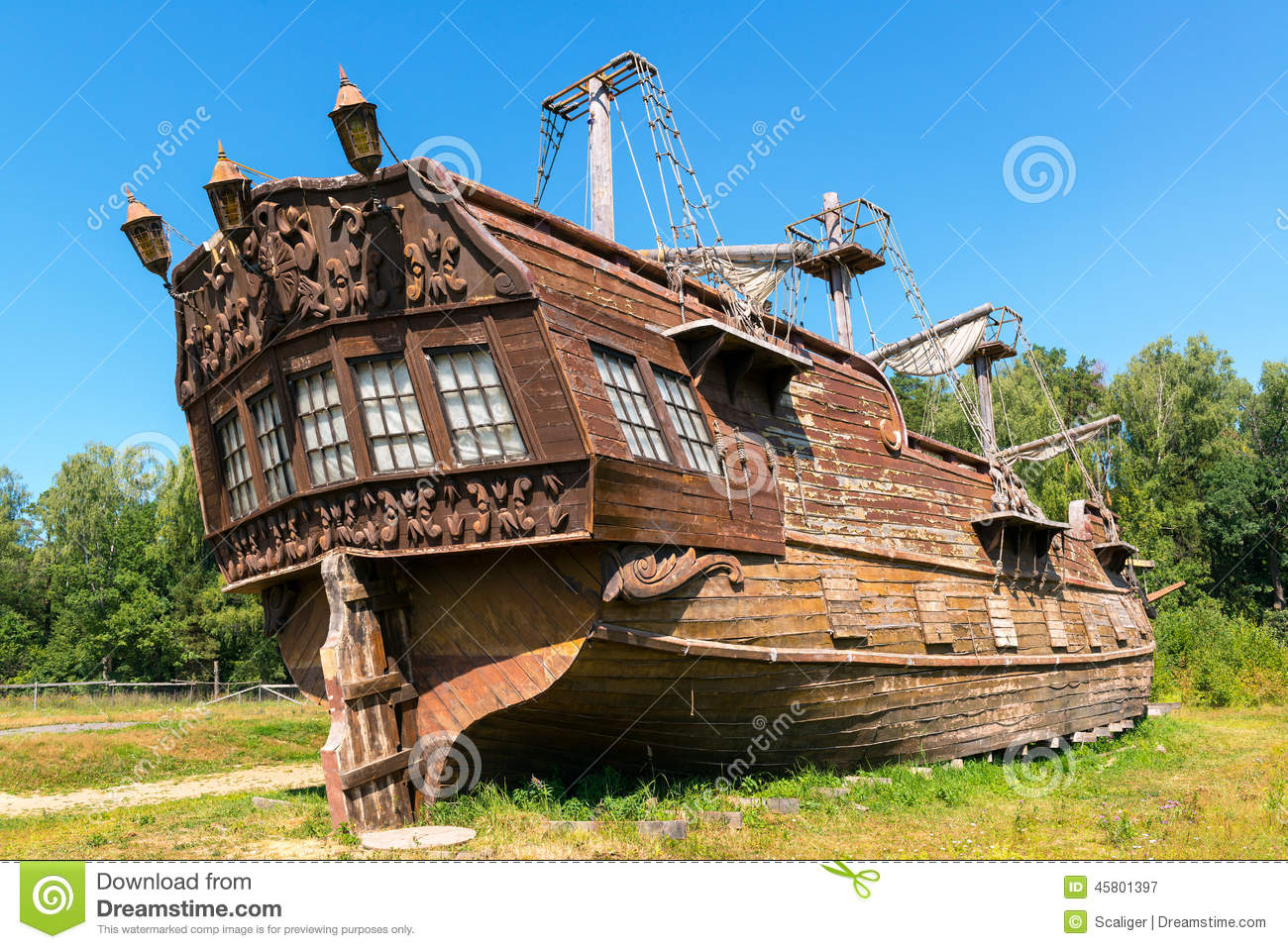 Abandoned Old Sailing Ship Stock Photo - Image: 45801397