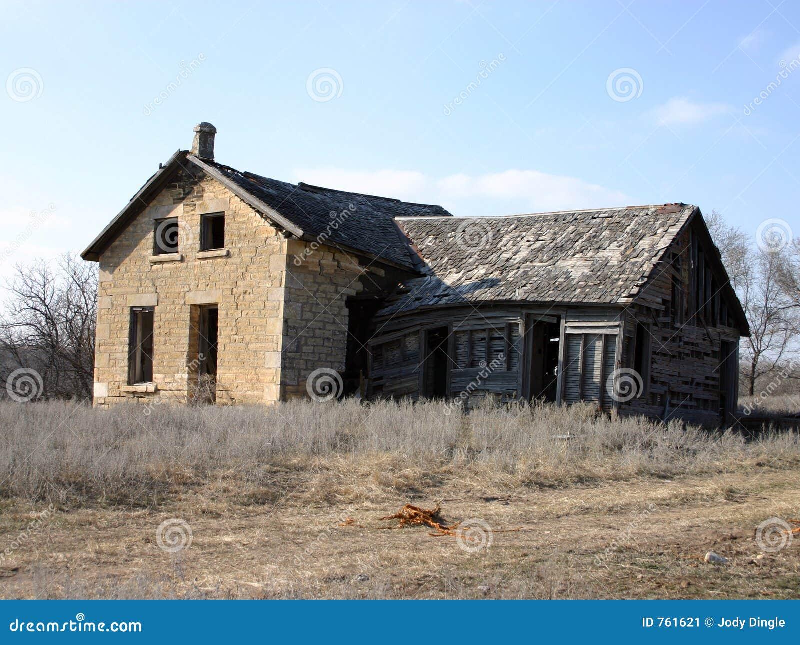 Abandoned Old Stone Farm House Stock Image Image 761621