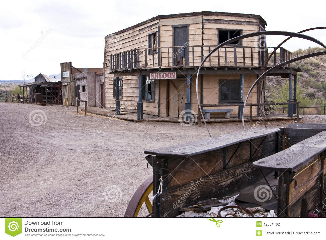 Download Abandoned Old Western Arizona Town USA Stock Photo - Image of american, cowtown: 12001462