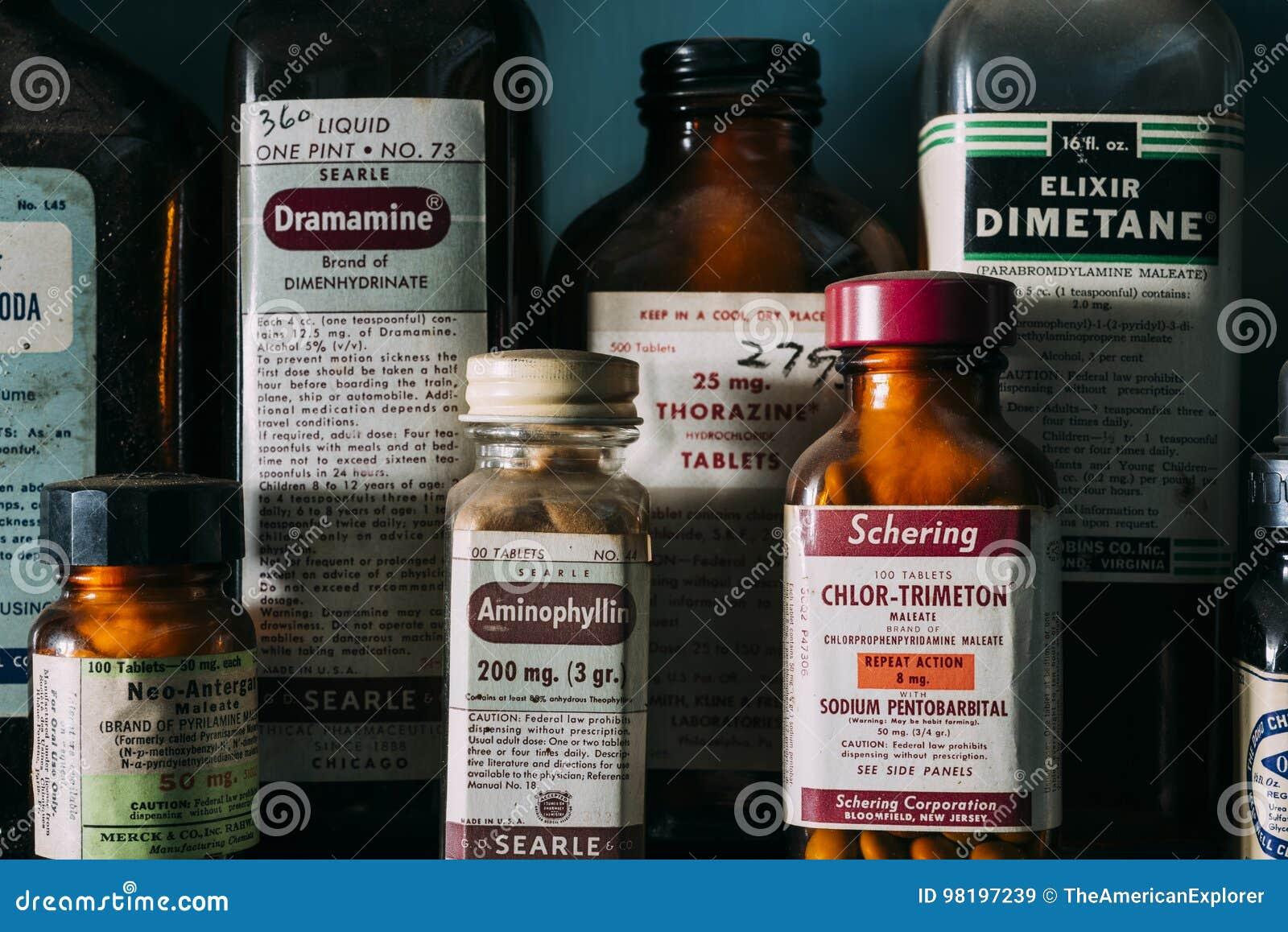 Vintage, Retro Medicine Bottles - Abandoned Pharmacy