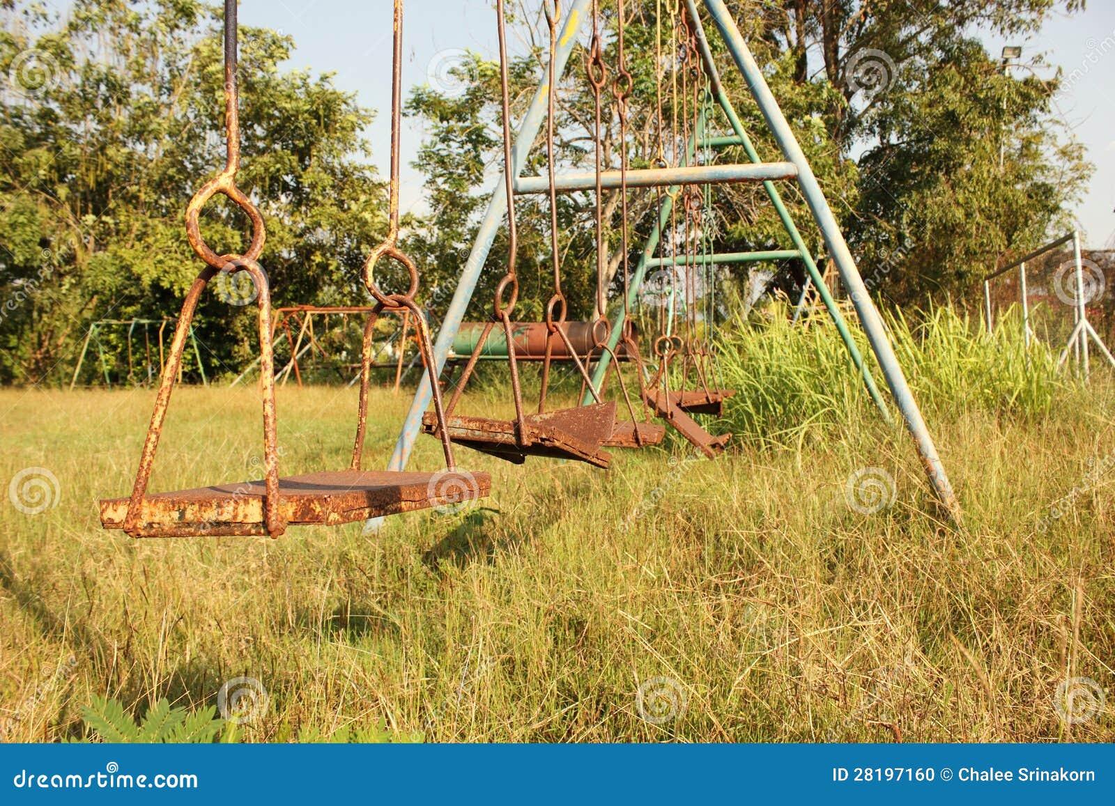 Abandoned Playground Stock Photo Image Of Dirty Damaged 28197160