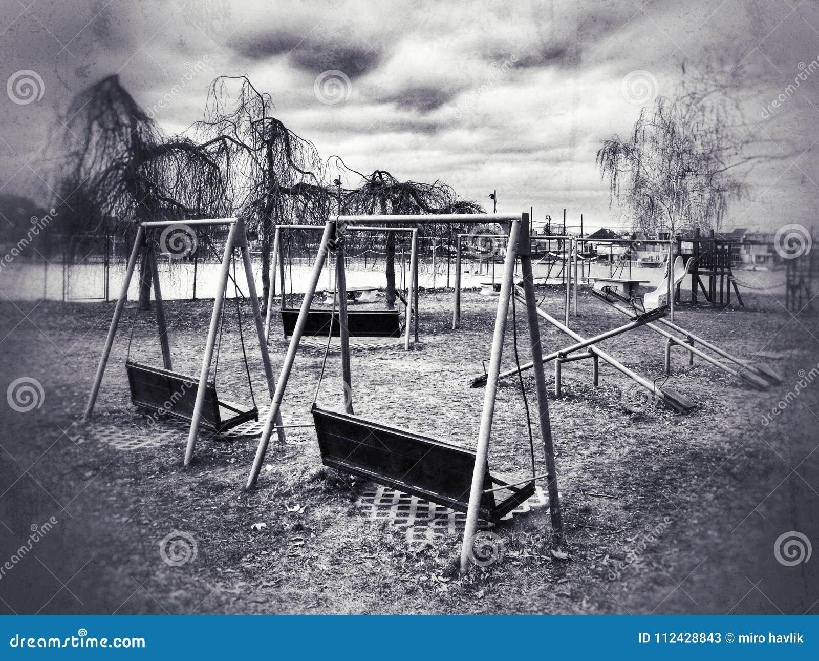 Abandoned Playground Stock Image Image Of Abandoned 112428843