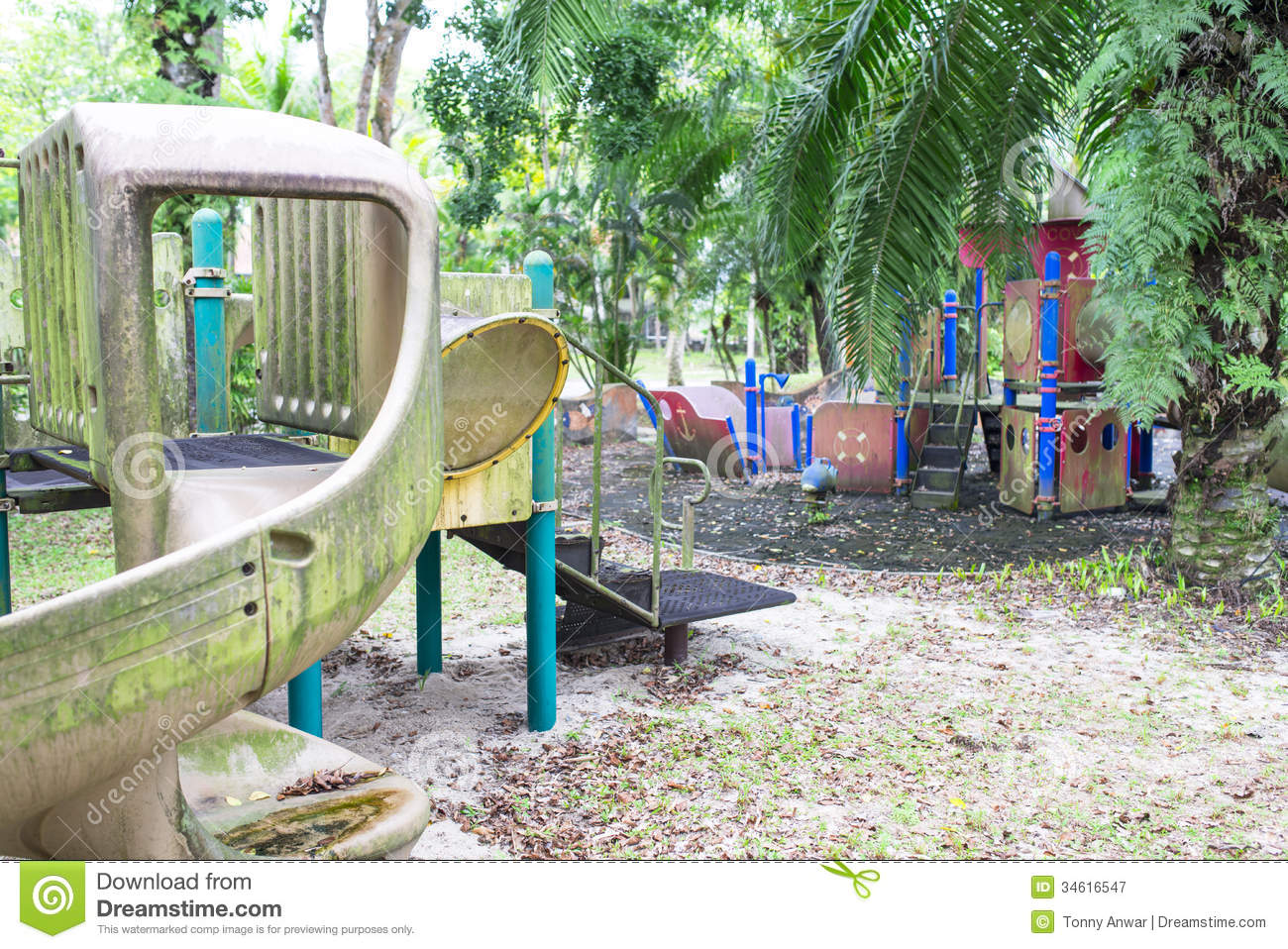 abandoned playground stock image image of children outdoor 34616547. Black Bedroom Furniture Sets. Home Design Ideas