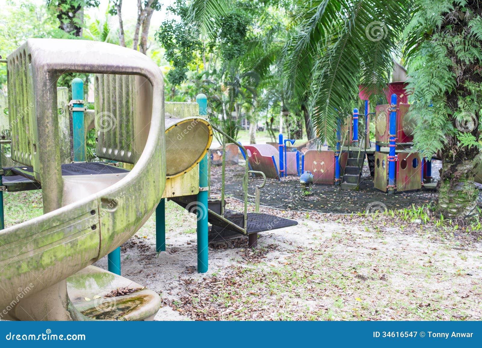 Abandoned Playground Stock Image Image Of Safety Hidden 34616547