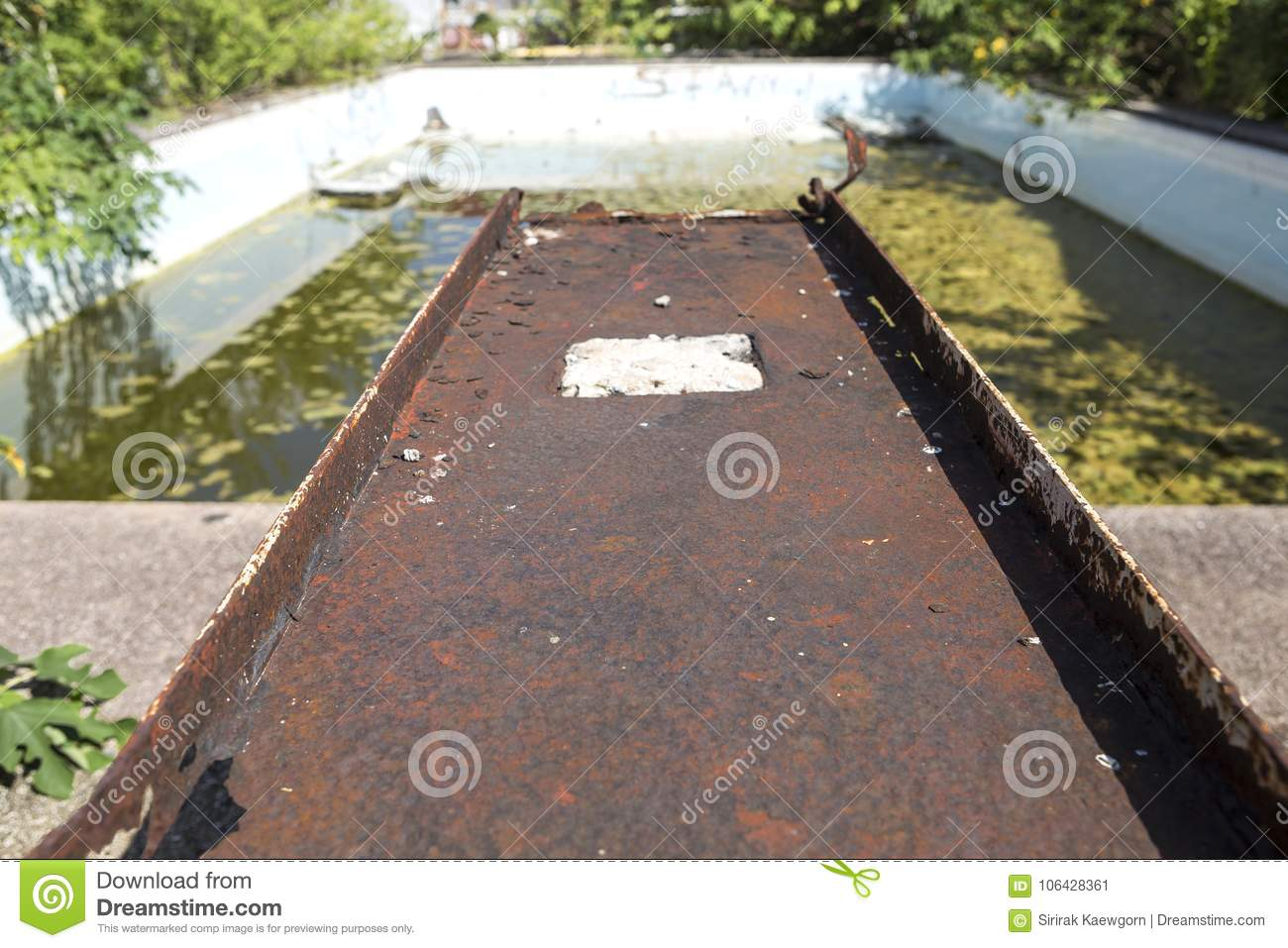 Abandoned Public Swimming Pool From The Village Old Sport Club Stock Image Image Of Pool Left 106428361