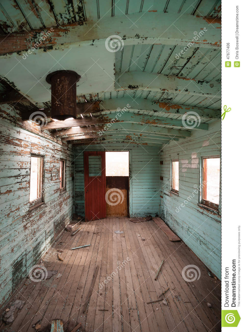 abandoned railroad caboose interior western ghost town stock photo image 47677406. Black Bedroom Furniture Sets. Home Design Ideas