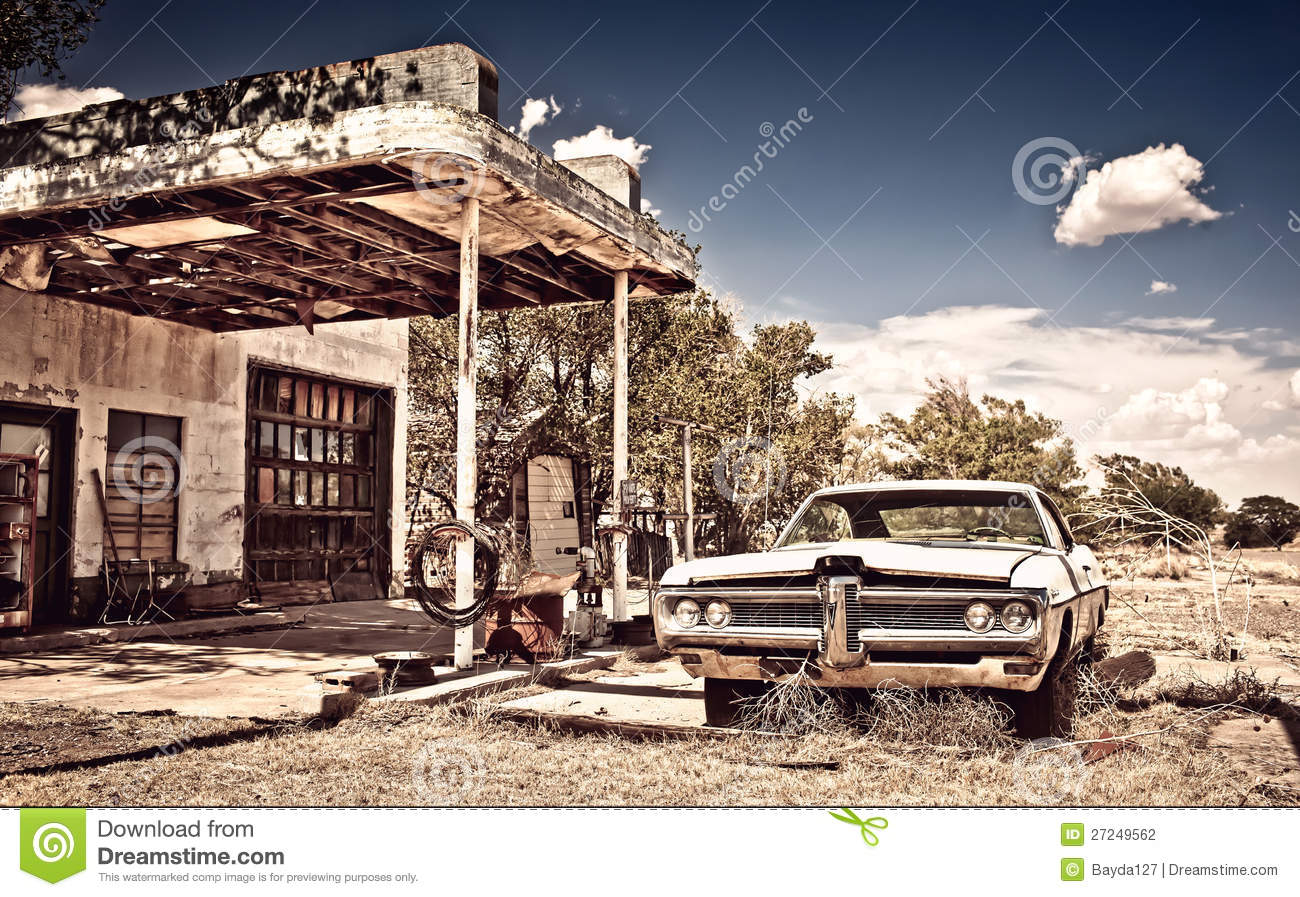 Download Abandoned Restaraunt On Route 66 In New Mexico Stock Photo - Image of fashioned, garage: 27249562